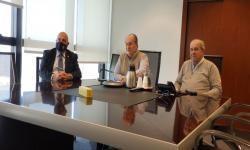 Autoridades de UNASEV asistiendo a reunión virtual con FICVI