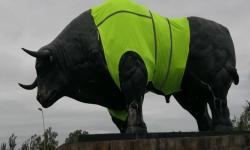 Símbolo de Paso de los Toros con camiseta reflectiva