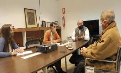 Arturo Bayardi, referente de ULOSEV Sauce, reunido con autoridades de UNASEV